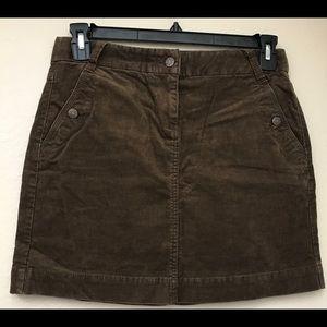 J.Crew Brown Corduroy Skirt Size 4
